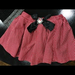 Halloween 🎃 Disney Minnie Mouse Girls Skirt